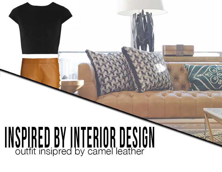 camel leather outfit inspired by interior design interior cravings