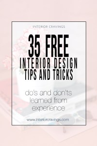 35 free interior design tips and tricks