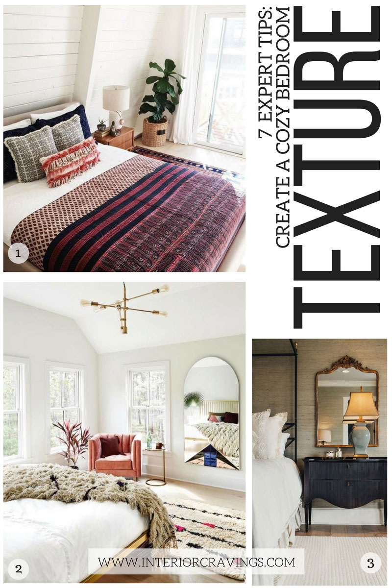 7 expert tips to help you create a cozy master bedroom - tip 1 add texture to your space