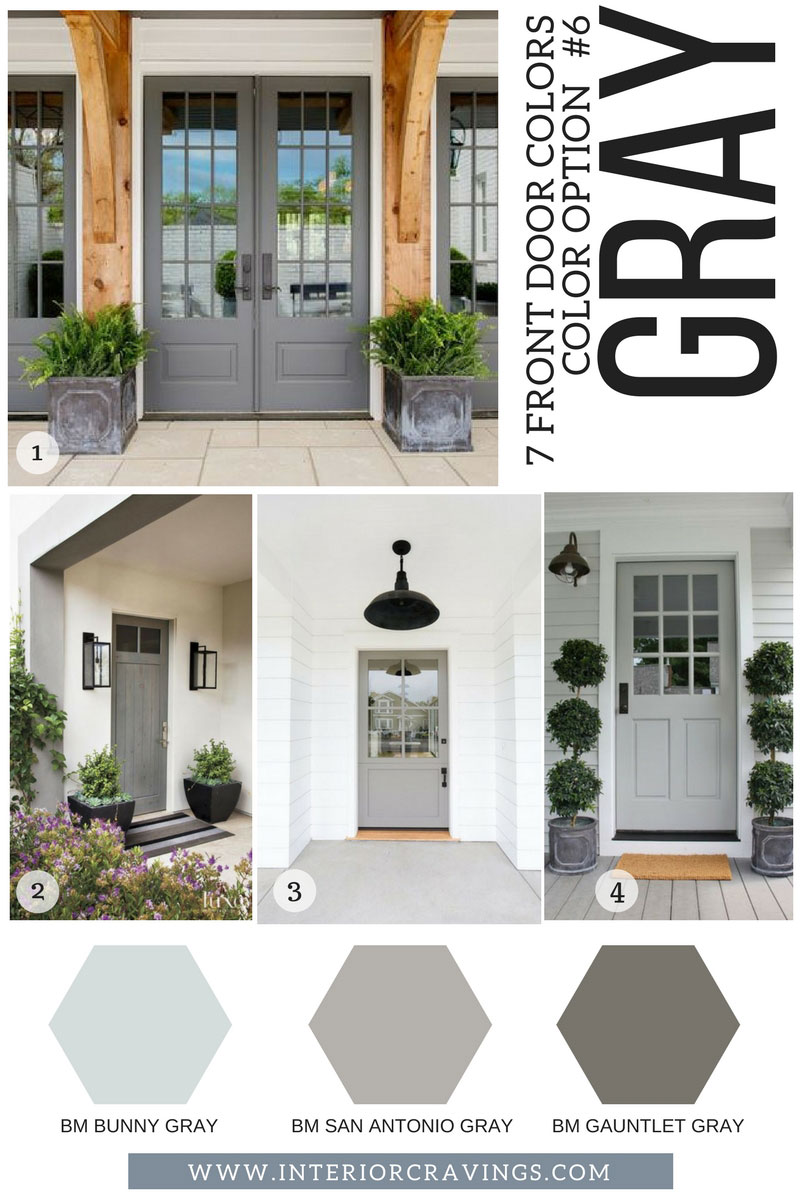 7 FRONT DOOR COLORS - gray front doors inspiration and gray paint codes and paint swatches