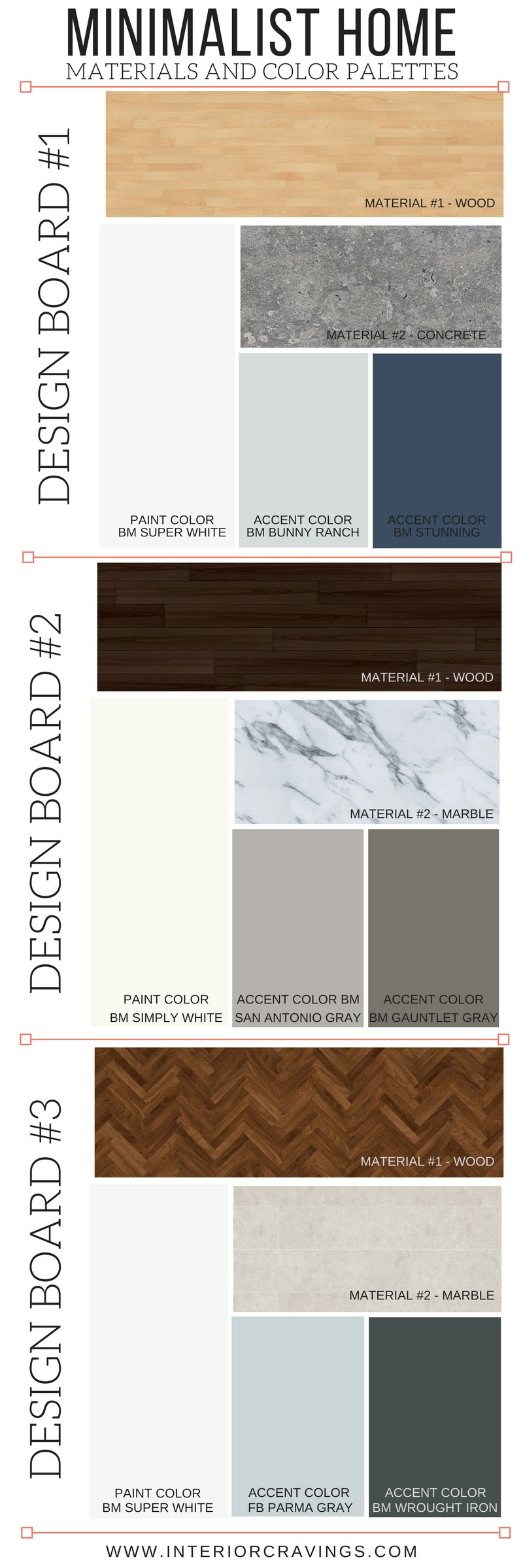 MINIMALIST HOME ESSENTIALS: MATERIALS AND COLOR PALETTE | Interior ...
