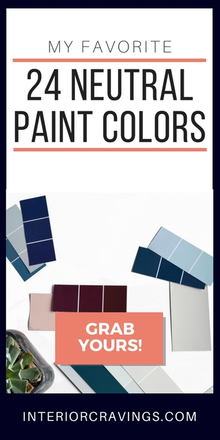 24 NEUTRAL PAINT COLORS sidebar