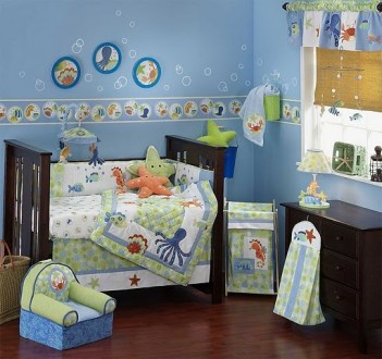 Underwater Bedroom Theme for Kids     Interior Designing Ideas Accentuate    Now the next step is to accentuate the bedroom with the right  accessories  For instance  you can add window curtain that can be up sand  like
