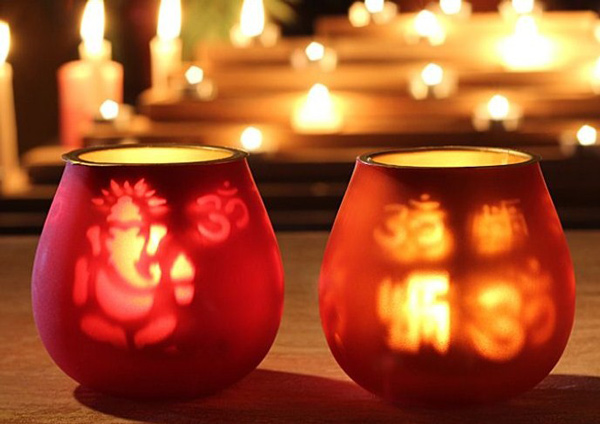 Decorative Diyas Using Wate Cd 39 S 6