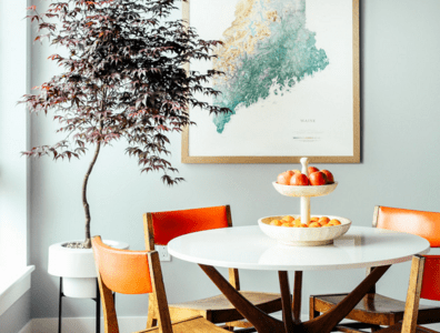 Contemporary table and chairs