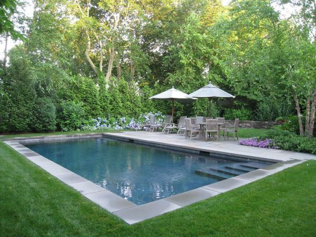 Inground Pool Landscaping Ideas With Natural Elements - Interior ...