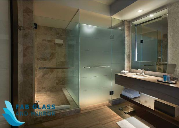 This image has an empty alt attribute; its file name is shower-door-glass.jpg