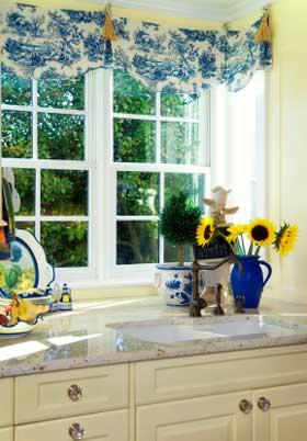 Желтый и синий на кухне