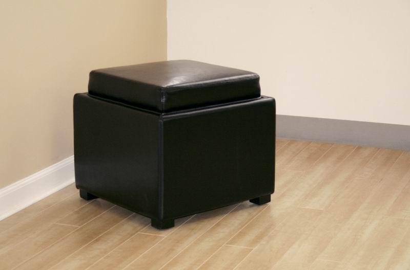 tate storage ottoman in black