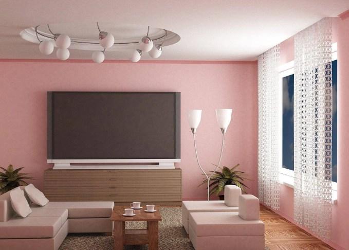 Amazing Pink Living Room