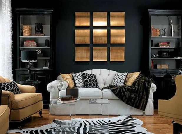 Bold Black Living Room