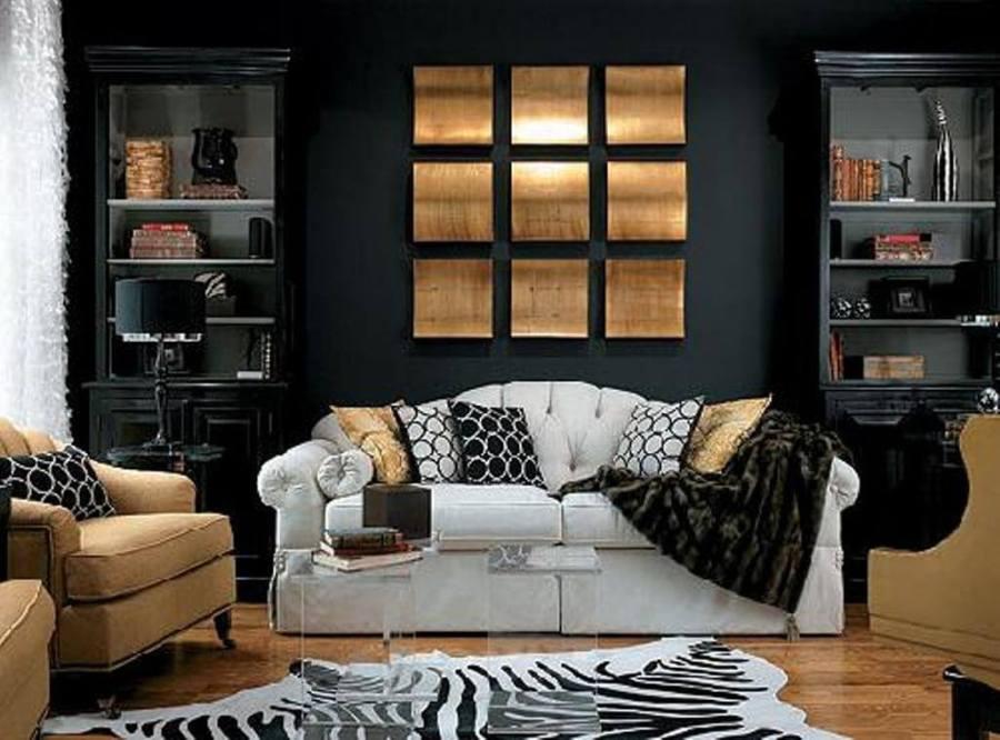 Bold Black Living Room