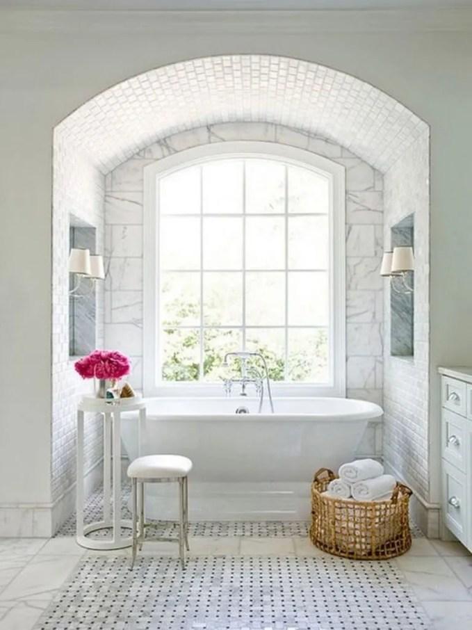 Charming White Bathroom