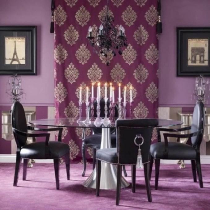 Classy Purple Dining Room