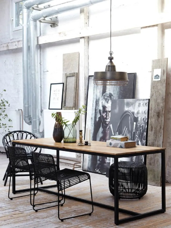 Cool Industrial Dining Room