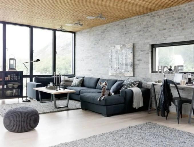 Cool Industrial Living Room Design