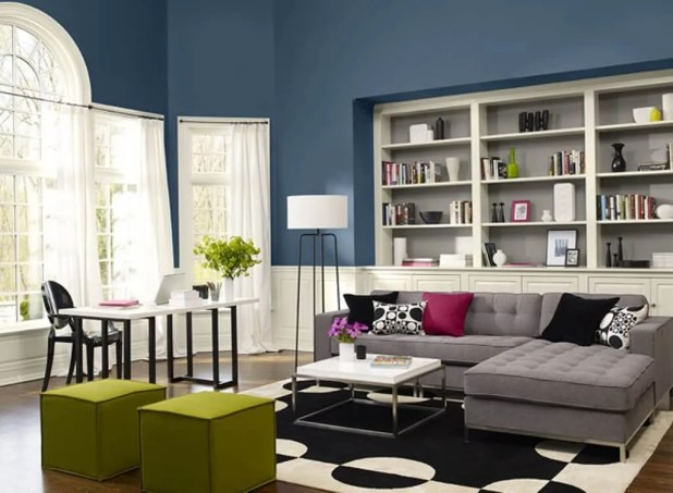 Ultra Marine Blue Living Room