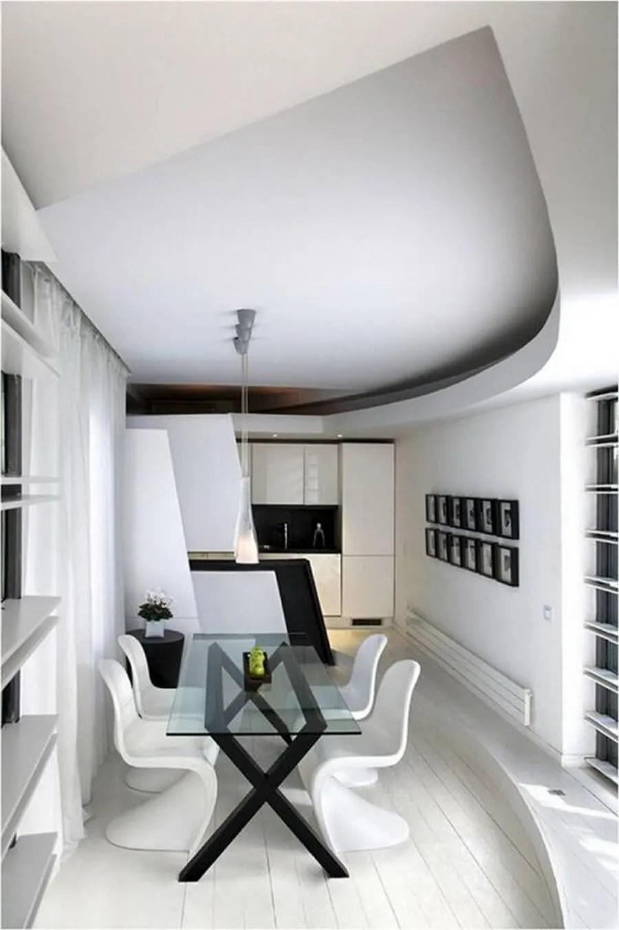 Interior decorating black and white - Modern Minimalist Dining Room Interior Decorating Ideas