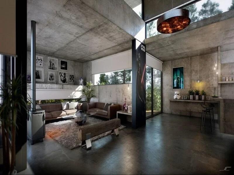 10 modern industrial style interior design ideas  https