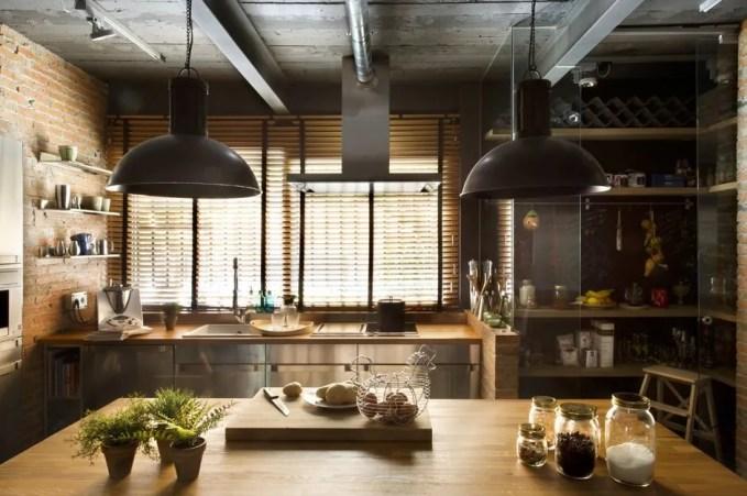 Beautiful Industrial Kitchen