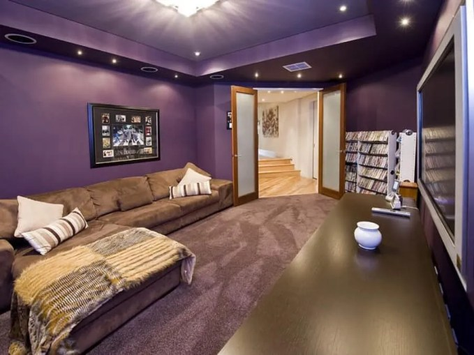 Bold Purple Living Room