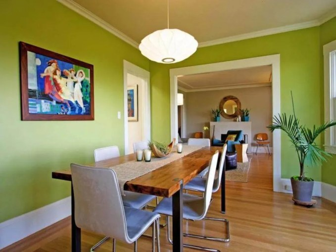 Cool Green Dining ROom