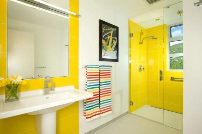 Sleek Yellow Bathroom