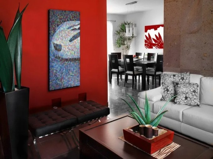 decorating-ideas-extraordinary-living-room-interior-design-using-red-wall-paint-in-living-room-along-with-white-leather-modular-sofa-and-black-leather-tufted-stool-incredible-ideas-for-your-home-inter