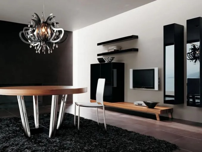minimalist-modern-style-round-table-luxury-chandelier-ideas-for-wall-interior-as-amusing-veengle-design-and-style
