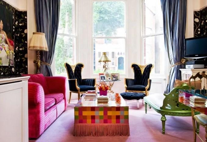 Avant Garde Boho Chic Living Room