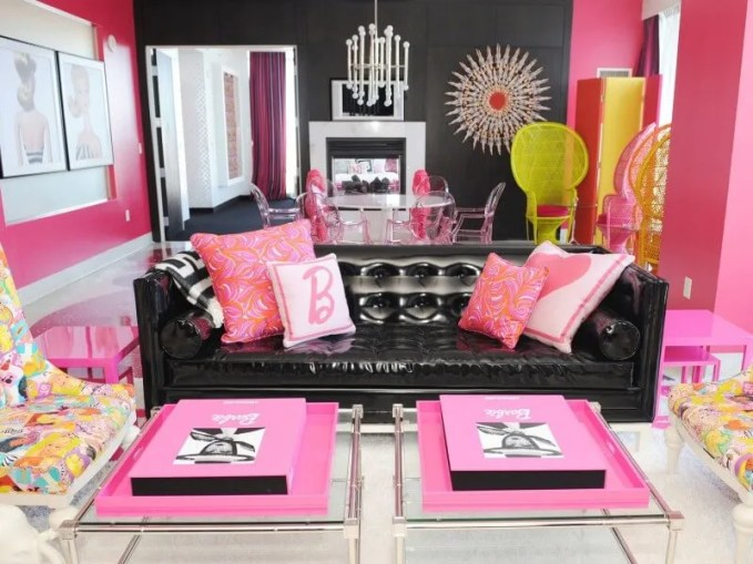 Cool Pink Living Room