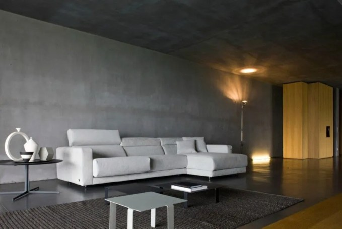 Dramatic Gray Living Room