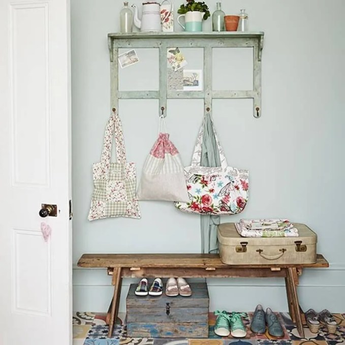 Eclectic-Hallway-Country-Homes-and-Interiors-Housetohome [patchwork tiles