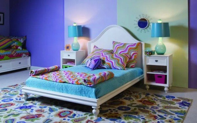 Perky Colorful Bedroom