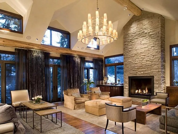 Rustic-meets-modern-living-room-Interior-Decoration-with-Stone-Fireplace-Design-Ideas-Exquisite-Decoration-Inspiration-Licious-game-room-decorating-ideas-pictures-Mediterranean-Style