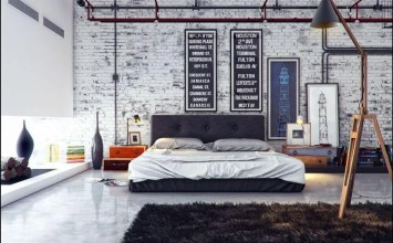 10 Bold Industrial Bedroom Interior Design Idea