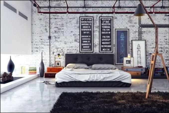Artistic Industrial Bedroom
