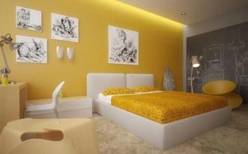 10 Cozy Yellow Bedroom Interior Design Ideas