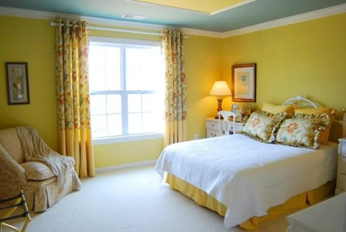 Classic, Warm Yellow Bedroom