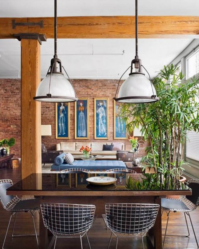 Exposed-Brick-—-Brick-Wall-—-Living-and-Dining-Room