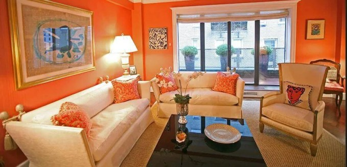 Homey orange Living Room
