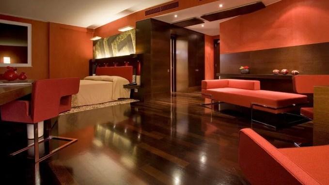 Hotel Inspired Red Bedroom