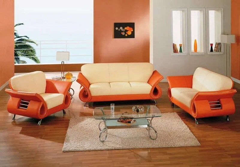 beautiful orange living room chair contemporary amazing