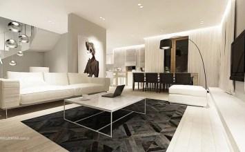 10 Modern Living Room Interior Design Ideas With Geometric Motifs