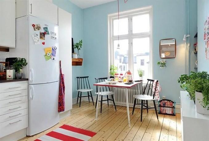 Scnadinavian Blue Dining Room