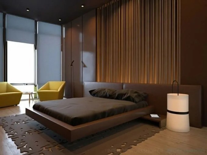 modern-brown-bedroom-with-lime