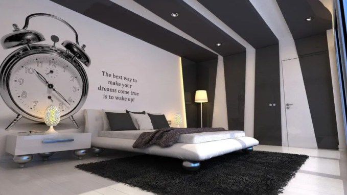 Cool grey and White Bedroom