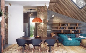 10 Charming Industrial Living Room Interior Design Ideas