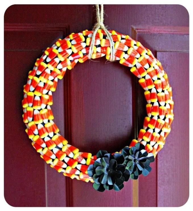 Colorful Halloween Wreath