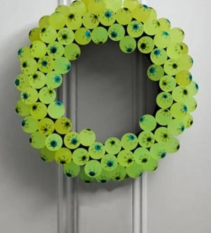 Eyebal Halloween Wreath